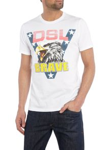 Diesel T-Joe regular fit brave eagle t shirt