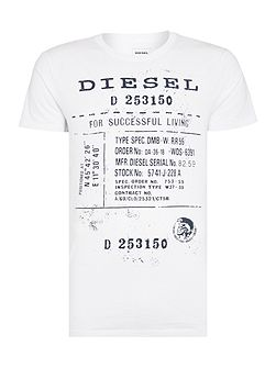 T-Diego regular fit text print crew neck t