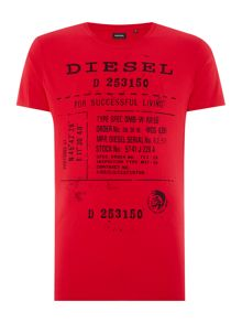 Diesel T-Diego regular fit text print crew neck t shirt