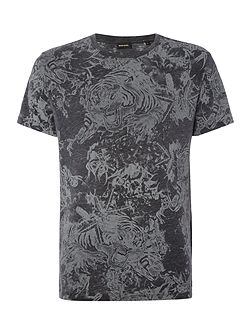 T-Joe regular fit marble print crew neck t