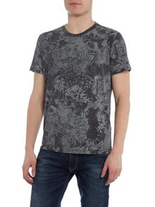 Diesel T-Joe regular fit marble print crew neck t shirt