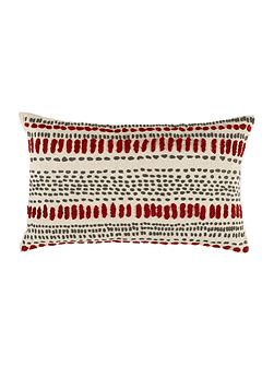 Embroidered spot cushion