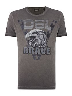 Men's Diesel T-Joe regular fit DSL brave mellange