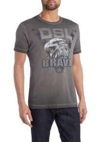 Diesel T-Joe regular fit DSL brave mellange t shirt