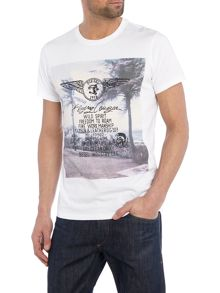 T-Diego regular fit wing print crew neck t shirt