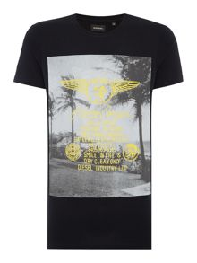 Diesel T-Diego regular fit wing print crew neck t shirt