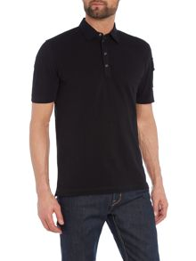 Diesel T-Poll regular fit logo patch sleeve polo