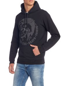 Diesel S-Agnes-Patch mohican hoodied sweat