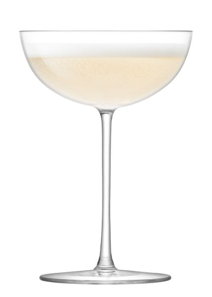 LSA Olivia Champagne Saucer 150ml Clear x 2