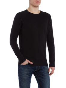 Diesel S-Mil regular fit woven crew neck sweat