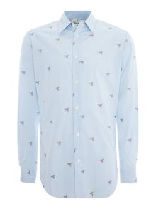 Vivienne Westwood Long sleeve bird embroidery shirt