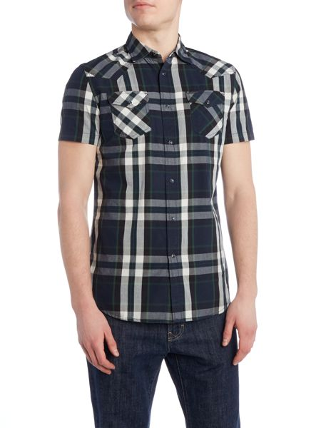 Diesel S-Zulphurishort check short sleeve shirt