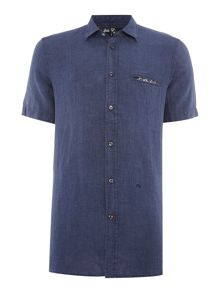 Diesel S-Emiko regular fit denim short sleeve shirt
