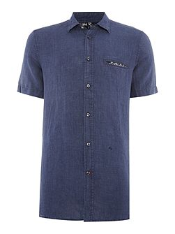 S-Emiko regular fit denim short sleeve shirt