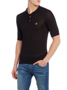 Knitted polo pullover