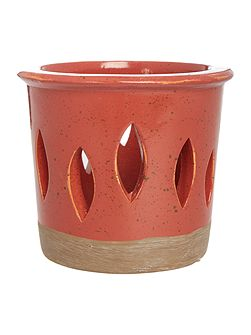 Red ceramic votive