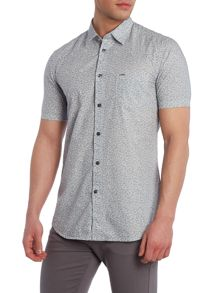 Diesel S-Palms regular fit palm print short sleeve shirt