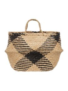 Linea Set of two diamond seagrass baskets