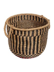 Linea Contrast red trim basket
