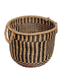 Contrast red trim basket