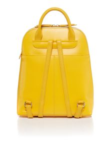 Radley Soho yellow large ziptop backpack