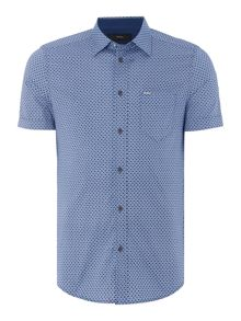 Diesel S-Leppa regular fit geo print short sleeve shirt
