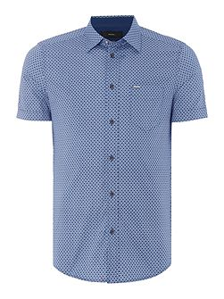 S-Leppa regular fit geo print short sleeve shirt
