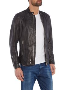 Diesel L-Edge leather biker jacket