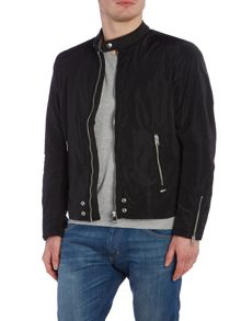 Diesel J-Edg-Clean zip through biker jacket
