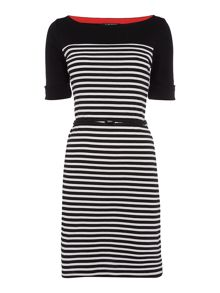 Lauren Ralph Lauren Arimona boatneck stripe dress