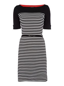 Arimona boatneck stripe dress