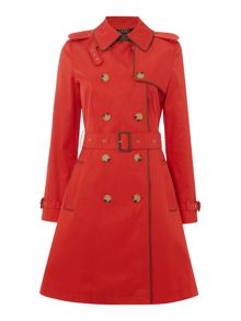 Lauren Ralph Lauren Classic trench coat with faux leather piping