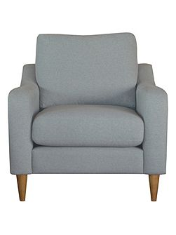 Harper armchair in sheltand grey