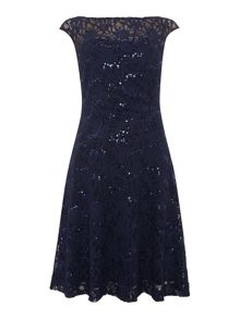 Lauren Ralph Lauren Malika sequin lace shift dress