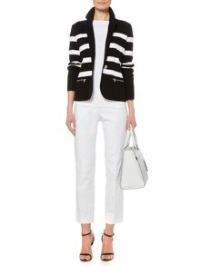 Adewina cotton stripe blazer
