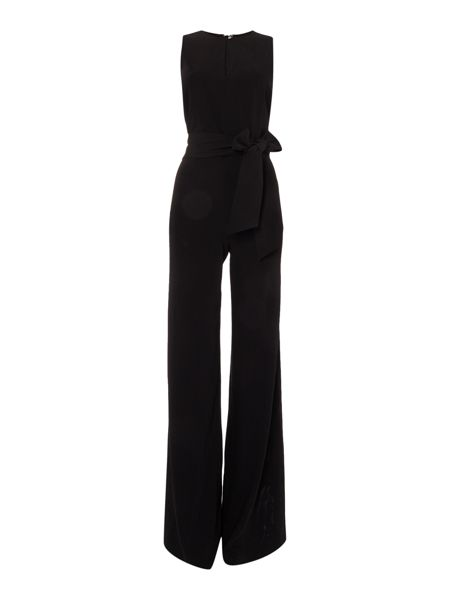 Lauren Ralph Lauren Shuepen sleeveless jumpsuit with waist tie