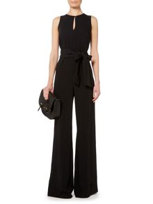 Shuepen sleeveless jumpsuit with waist tie