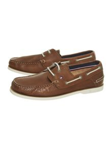 Tommy Hilfiger Leather Boat Shoes
