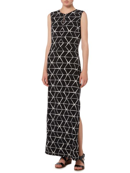 Linea Monochrome print maxi dress