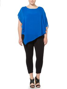 Label Lab Plus size blouse with oversized sleeves