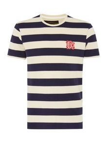 Front Up Rugby Stripe Crew Neck Short Sleeve T-shirt