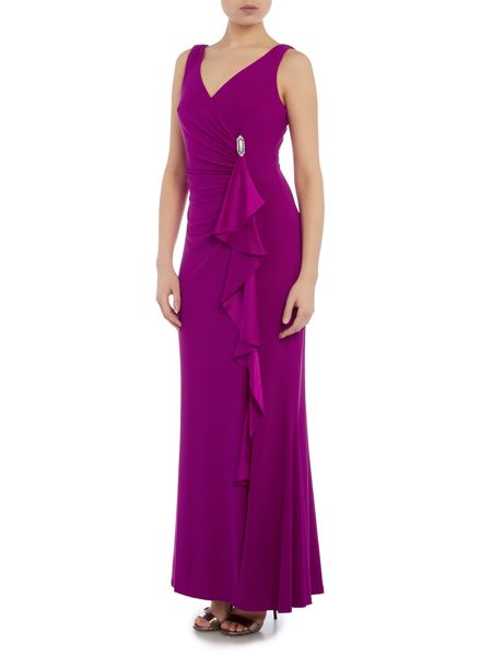 Lauren Ralph Lauren Chelo silk charm dress with pin