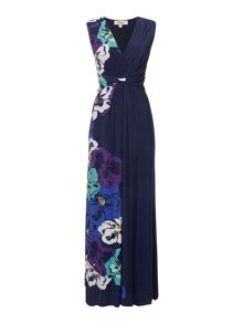 Linea Placement print floral maxi dress