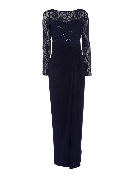 Lauren Ralph Lauren Lace wrap maxi dress