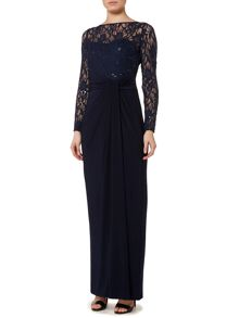 Lauren Ralph Lauren Iola lace wrap maxi dress