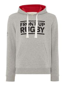 Front Up Rugby Graphic Hooded Sweatshirt