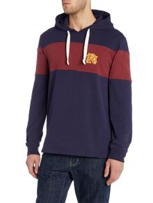Front Up Rugby Block Stripe Hooded Sweatshirt