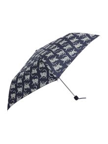Lulu Guinness Jungle cat superslim umbrella