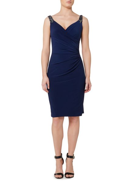 Lauren Ralph Lauren Beaded strap wrap dress