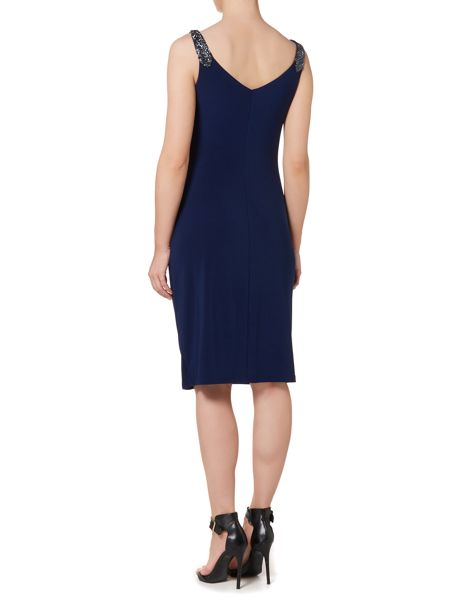 Lauren Ralph Lauren Dafne beaded strap wrap dress